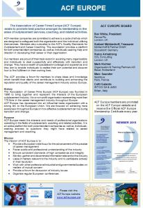 ACF Europe Brochure page 1